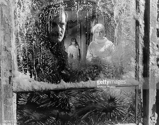 Omar Sharif and Julie Christie look through the ice patched widow in a scene from the film 'Doctor Zhivago' 1965