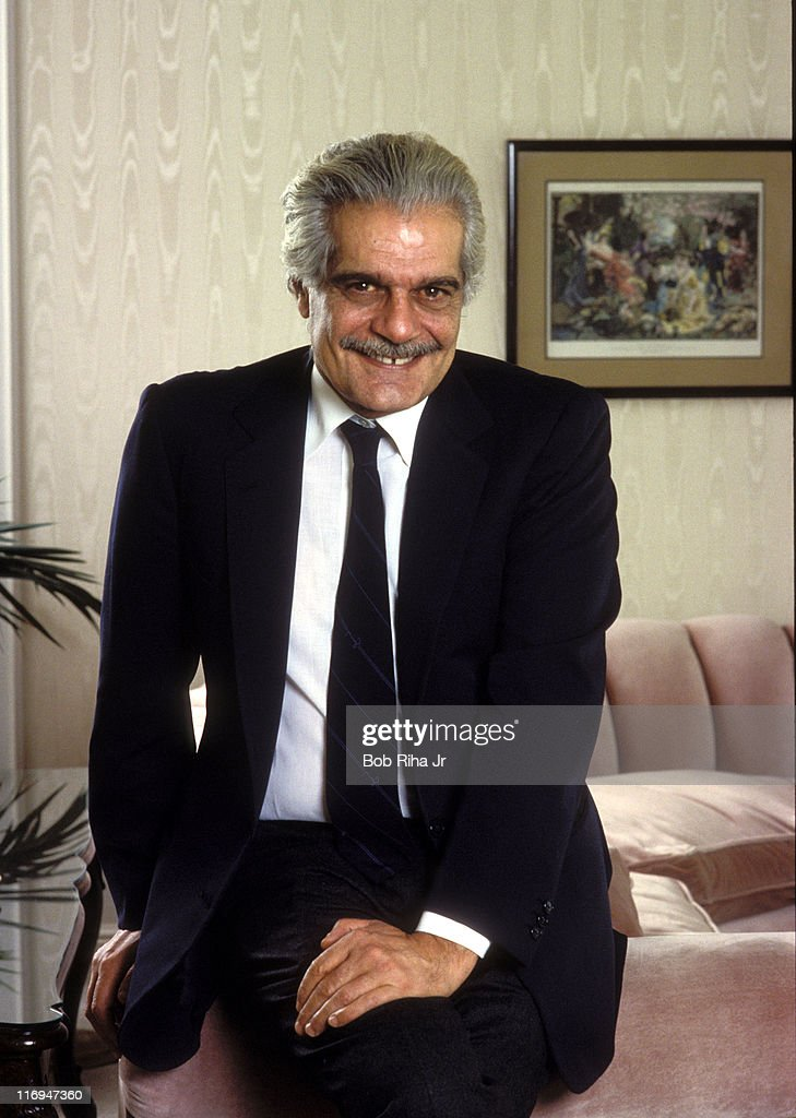 Omar Sharif during Omar Sharif Portrait Session - Circa 1990 at Undisclosed Location in Los Angeles, California, United States.