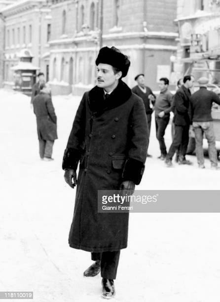 Omar Sharif during the filmation of the movie 'Doctor Zhivago' directed by David Lean in Canillejas Madrid Spain