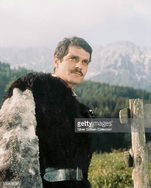 Omar Sharif Egyptian actor wearing a black fur coat in a publicity portrait issued for the film 'The Last Valley' 1970 The historical drama set...