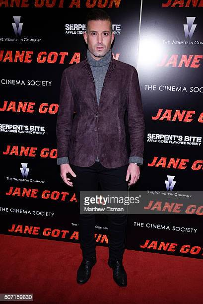 Omar Sharif Jr attends the New York premiere of 'Jane Got A Gun' hosted by The Weinstein Company with the Cinema Society and Serpent's Bite at The...