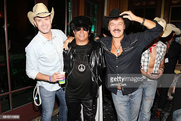 Omar Sharif Jr recording artist Sir Ivan and singer Randy Jones of Village People attend as Sir Ivan celebrates his antibullying anthem Kiss All The...
