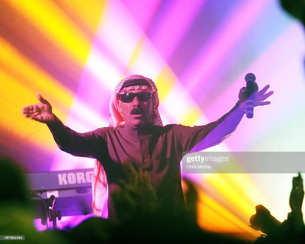 Omar Souleyman performs at the 40 Watt Club on March 27, 2015 in Athens, Georgia.