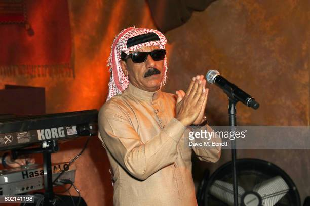 Omar Souleyman performs at the launch of Skepta's new fashion label Mains at Selfridges on June 27 2017 in London England