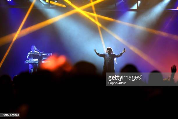 Omar Souleyman performs live on stage during OGR Big Bang event on October 7 2017 in Turin Italy
