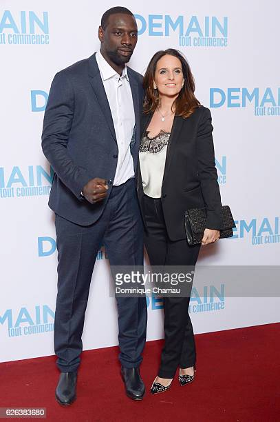 Omar Sy and Helene Sy attend the Demain Tout Commence Paris Premiere at Le Grand Rex on November 28 2016 in Paris France