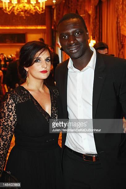 Omar Sy and his wife Helene attend the 'Global Gift Gala' hosted by jewel designer Sheeva at Hotel George V on May 28, 2012 in Paris, France.