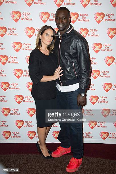 Omar Sy and his Wife Helene attend the 'Samba' Premiere on October 14, 2014 in Paris., France.