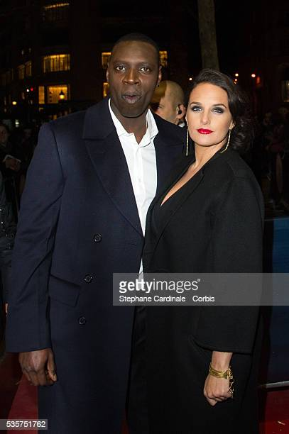 Omar Sy and wife Helene attend at the Globes de Cristal 2012, at the Lido in Paris.