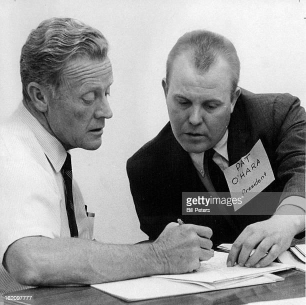 JUN 19 1968 JUN 20 1968 Omar Temple Shows Pat O'hara Data On Traffic Volume In Area Stemple is district highway engineer O'Hara president of city...