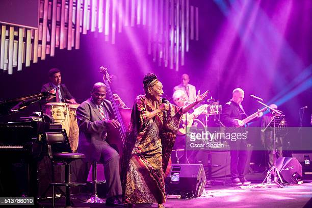 Omara Portuondo performs with his group Buena Vista Social Group during the 12 Jakarta International Java Jazz Festival on March 4 2016 in Jakarta...