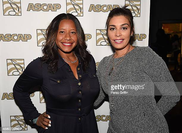 Omara S Harris and Jennifer Goicoechea attend the ASCAP Rhythm And Soul Presents Women Behind The Music Atlanta Edition at Negril Village on October...