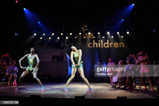 Omari Douglas as Showgirl Nora and Melissa James as Showgirl Dora with artists of the company in Angela Carter'u2019s Wise Children directed by Emma...
