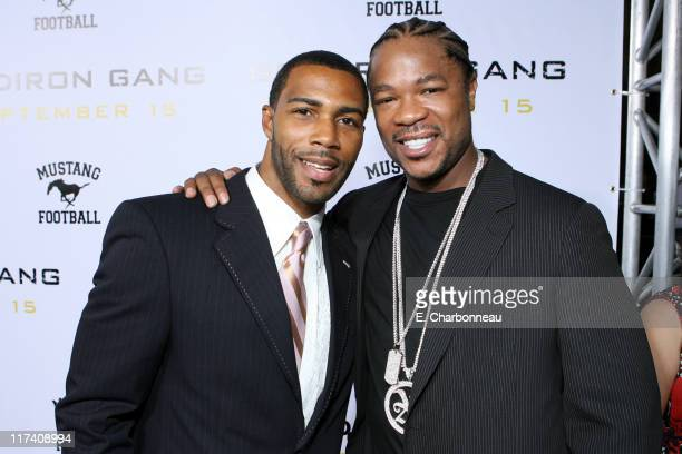 Omari Hardwick and Alvin 'XZIBIT' Joiner during The Los Angeles Premiere of Columbia Pictures' 'Gridiron Gang' at Grauman's Chinese Theatre in...