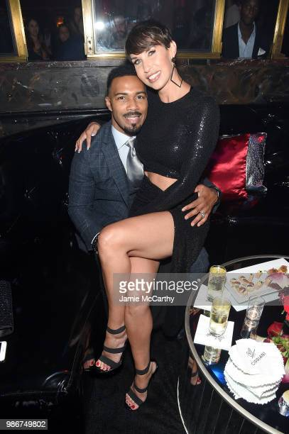 Omari Hardwick and Jennifer Pfautch attend the Starz 'Power' The Fifth Season NYC Red Carpet Premiere Event After Party on June 28 2018 in New York...