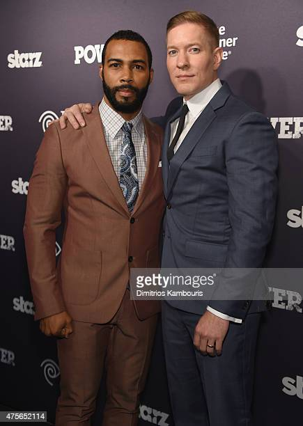 Omari Hardwick and Joseph Sikora attend Power Season Two Series Premiere at Best Buy Theater on June 2 2015 in New York City