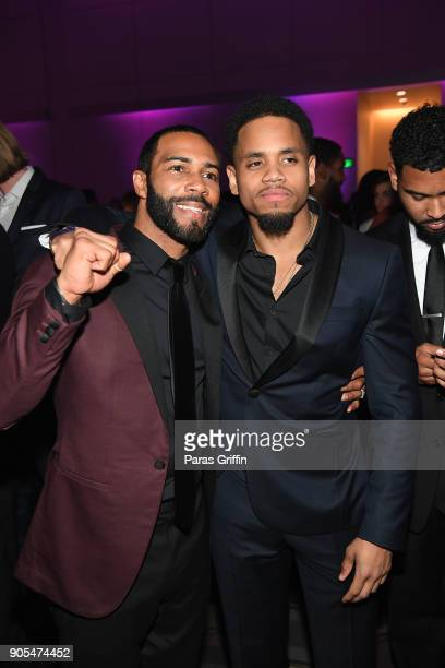 Omari Hardwick and Mack Wilds attend 49th NAACP Image Awards After Party at Pasadena Civic Auditorium on January 15 2018 in Pasadena California