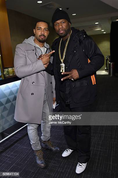 Omari Hardwick and rapper 50 Cent attend Kanye West Yeezy Season 3 on February 11 2016 in New York City