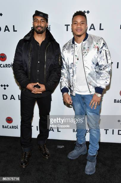 Omari Hardwick and Rotimi attend TIDAL X Brooklyn at Barclays Center of Brooklyn on October 17 2017 in New York City