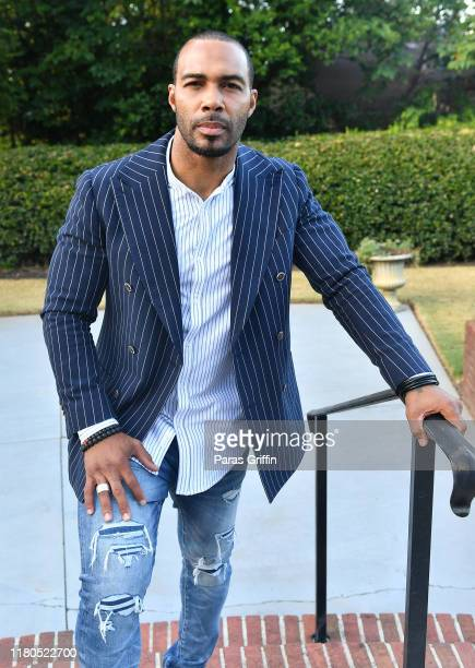 Omari Hardwick attends 2019 Morehouse College Human Rights Film Festival at Morehouse College on October 11 2019 in Atlanta Georgia