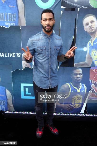 Omari Hardwick attends EA SPORTS NBA Live 19 at Goya Studios on August 24 2018 in Los Angeles California