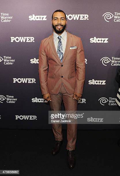 Omari Hardwick attends the 'Power' season two series premiere at Best Buy Theater on June 2 2015 in New York City