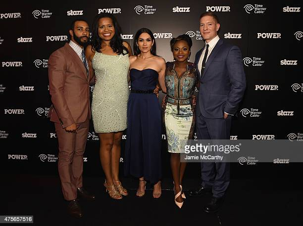 "Omari Hardwick, Courtney Kemp Agboh, Lela Loren, Naturi Naughton , and Joseph Sikora attend the ""Power"" season two premiere event with a special..."