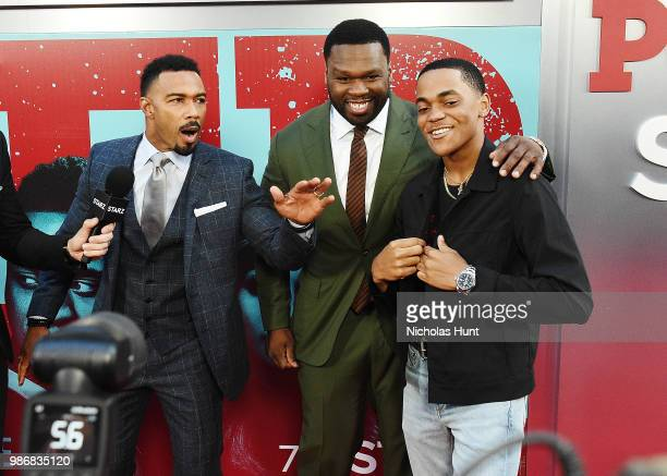 Omari Hardwick Curtis '50 Cent' Jackson Michael Rainey Jr attends the 'POWER' Season 5 Premiere at Radio City Music Hall on June 28 2018 in New York...