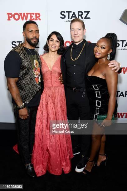 Omari Hardwick Lela Loren Joseph Sikora and Naturi Naughton at STARZ Madison Square Garden Power Season 6 Red Carpet Premiere Concert and Party on...