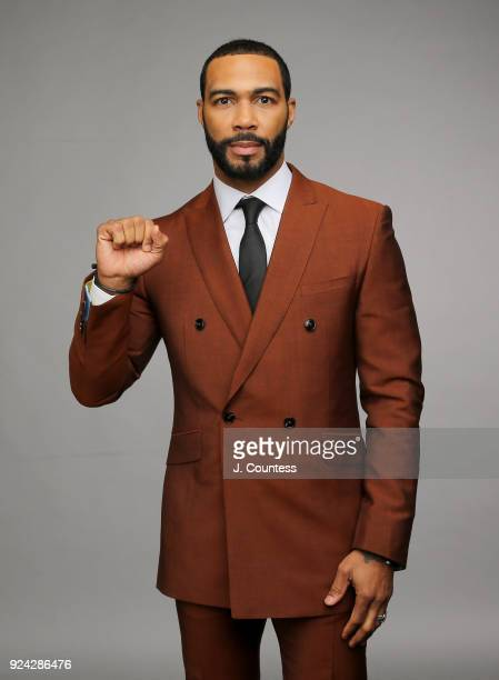 Omari Hardwick poses for a portrait during the 2018 American Black Film Festival Honors Awards at The Beverly Hilton Hotel on February 25 2018 in...