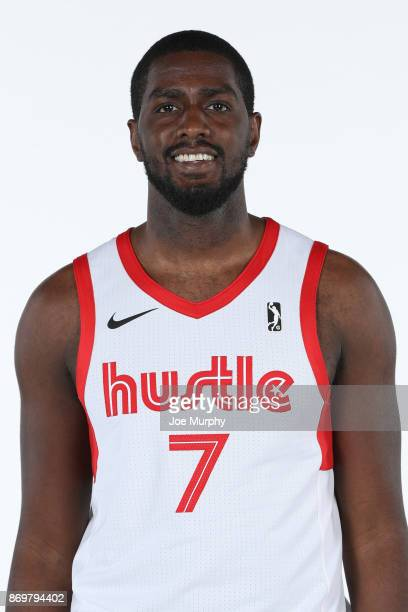 Omari Johnson of the Memphis Hustle poses for a head shot during the NBA GLeague media day on November 2 2017 at FedExForum in Memphis Tennessee NOTE...