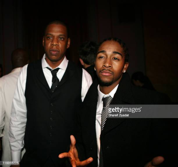 Omarion and Jay Z during Nas Celebrates His New Album 'Hip Hop is Dead' at His Black White Ball December 18 2006 at Capitale in New York City New...