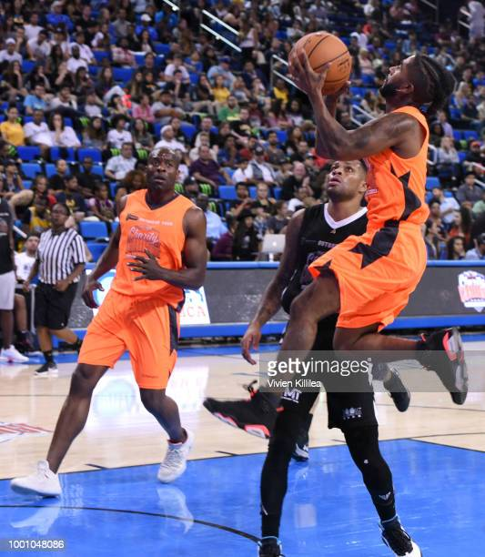 Omarion attends Monster Energy Outbreak Presents $50K Charity Challenge Celebrity Basketball Game at UCLA's Pauley Pavilion on July 17 2018 in...
