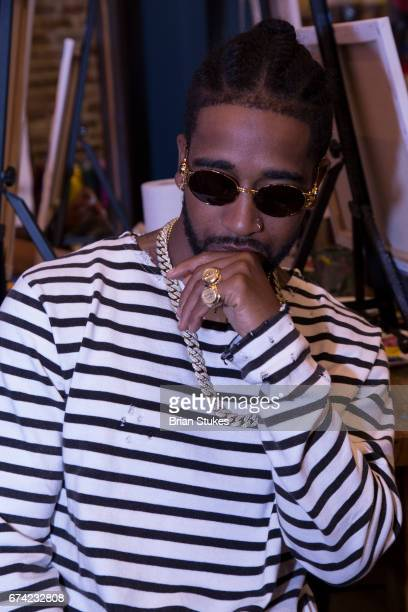 Omarion attends Sip Paint powered by 939 WKYS at Muse Paintbar on April 27 2017 in Oxon Hill Maryland