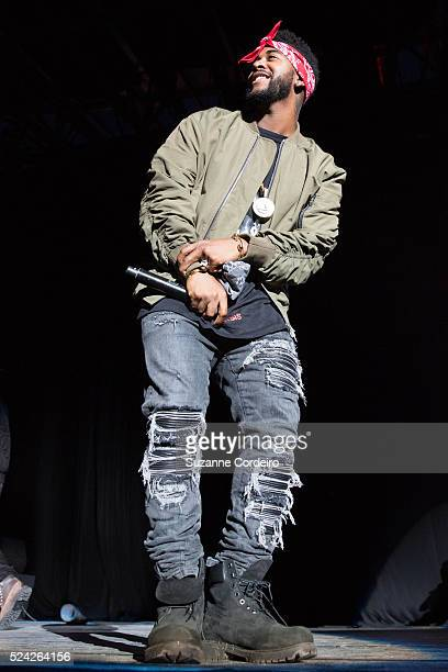 Omarion performs during the Chris Brown 'One Hell of a Night Tour' at the Austin360 Amphitheater on September 9 2015 in Austin Texas
