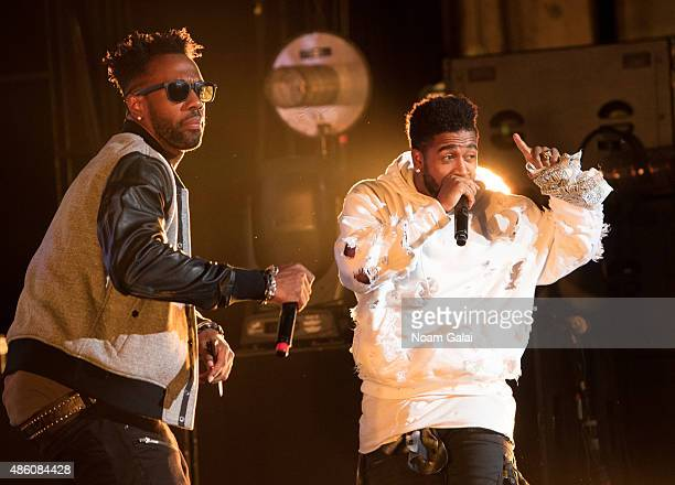 Omarion performs in concert at Nikon at Jones Beach Theater on August 30 2015 in Wantagh New York