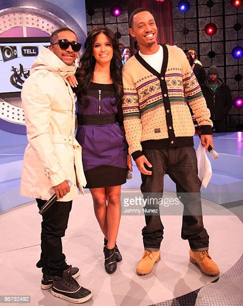 Omarion Rocsi and Terrence J on the set of BET's 106 Park at BET Studios on January 11 2010 in New York City
