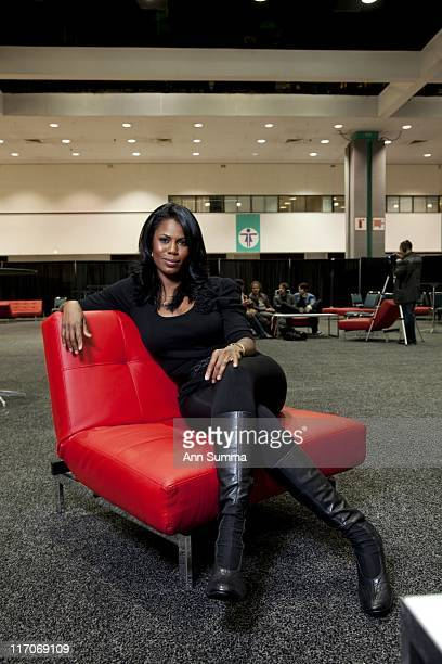 Omarosa backstage in the VIP section at Reality Rocks Los Angeles first reality show convention on April 10 2011 in Los Angeles California