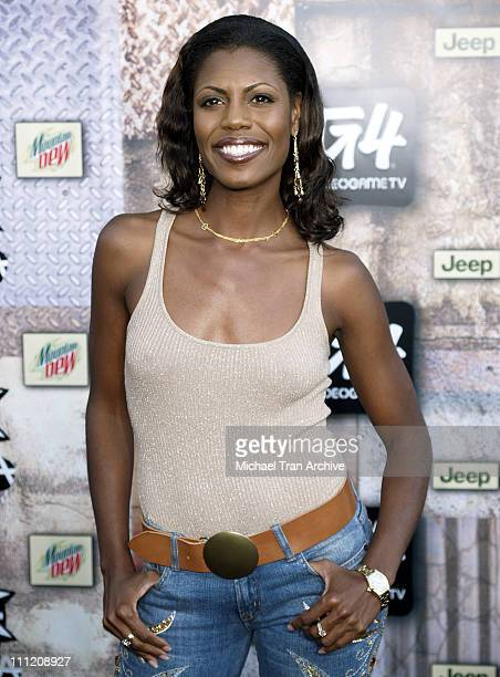 Omarosa during GPhoria 2005 The Mother of All Videogame Award Shows Arrivals at Los Angeles Center Studios in Los Angeles California United States