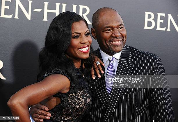Omarosa Manigault and fiance John Allen Newman attend the premiere of BenHur at TCL Chinese Theatre IMAX on August 16 2016 in Hollywood California