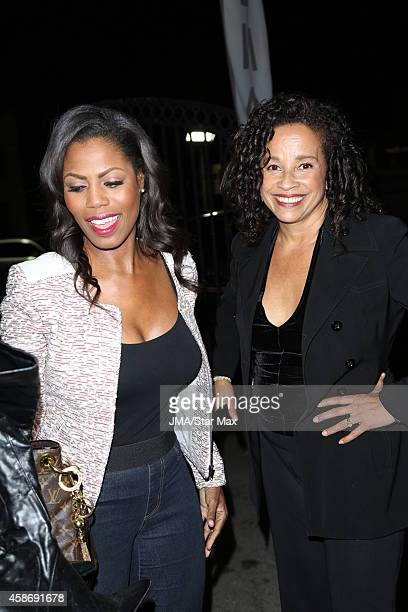 Omarosa Manigault and Rae Dawn Chong are seen on November 8 2014 in Los Angeles California