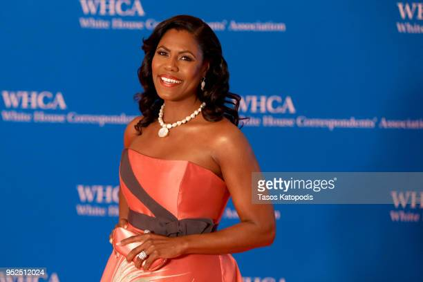 Omarosa Manigault attends the 2018 White House Correspondents' Dinner at Washington Hilton on April 28 2018 in Washington DC