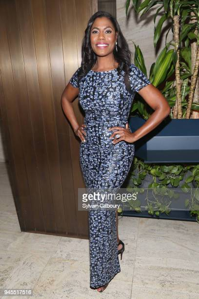 Omarosa Manigault attends The Hollywood Reporter's Most Powerful People In Media 2018 at The Pool on April 12 2018 in New York City