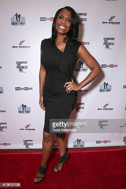 Omarosa Manigault attends the Inform Your Vote President Election Debate at The Tabernacle on October 8 2016 in Inglewood California