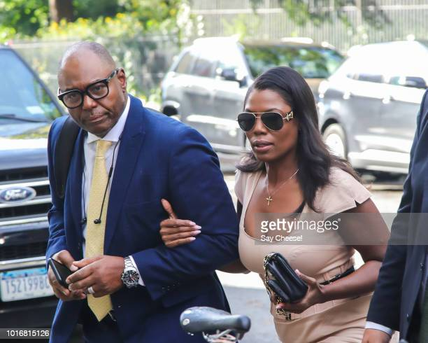 Omarosa Manigault Newman and John Allen Newman are seen arriving at The Daily Show on August 14 2018 in New York New York