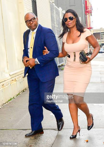 Omarosa Manigault Newman and John Allen Newman are seen walking in midtown on August 14 2018 in New York City