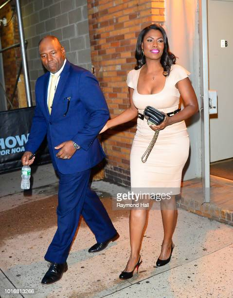 Omarosa Manigault Newman and John Allen Newman are seen walking out of the Daily Show on August 14 2018 in New York City