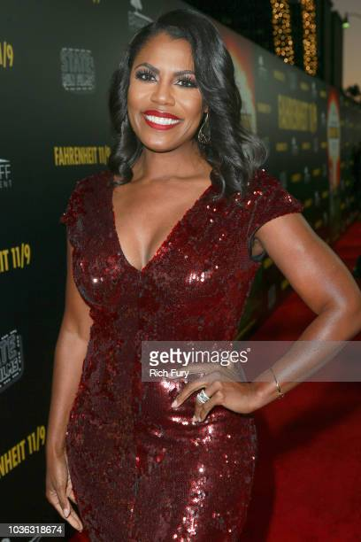 Omarosa Manigault Newman attends the premiere of Briarcliff Entertainment's Fahrenheit 11/9 at Samuel Goldwyn Theater on September 19 2018 in Beverly...