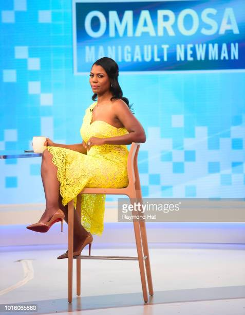 Omarosa Manigault Newman is seen on the set of the Today Show' on August 13 2018 in New York City