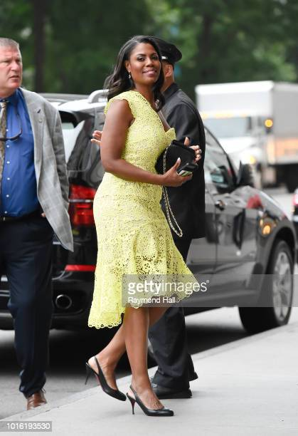 Omarosa Manigault Newman is seen walking in midtown on August 13 2018 in New York City